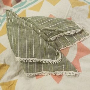 Cute square scarf with sweet edging detail